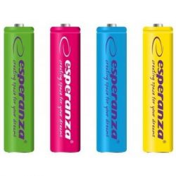 Аккумулятор AAA 1000mAh Ni-MH * 4 mix of colors Esperanza (EZA107)