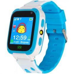 Смарт-часы Discovery iQ4800 Camera LED Light Blue Детские смарт часы-телефон трек (iQ4800 Blue)