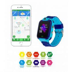 Смарт-часы Discovery iQ4900 Camera LED Light Blue Детские смарт часы-телефон трек (iQ4900 Blue)