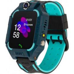 Смарт-часы ATRIX iQ2500 IPS Cam Flash Blue Детские телефон-часы с трекером (iQ2500 Blue)