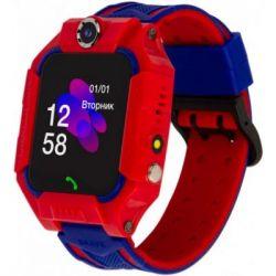 Смарт-часы ATRIX iQ2500 IPS Cam Flash Red Детские телефон-часы с трекером (iQ2500 Red)