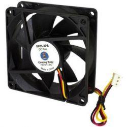 Вентилятор 80 mm Cooling Baby 80x80x25мм 8025 3PS SB 12В 0,18А 24,3дБ, 2500 об/мин 3pin
