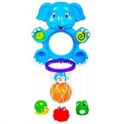 Игрушка для ванной BeBeLino Водный баскетбол Веселый Слоник (58111)