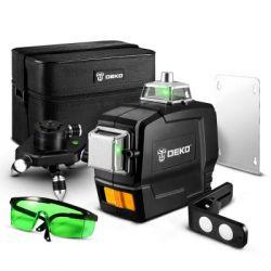 Лазерный уровень 3D DEKO DKLL12PB1 зелёные лучи