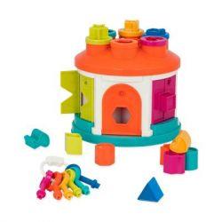 Развивающая игрушка Battat игрушка-сортер Умный домик 12 форм (BT2580Z)