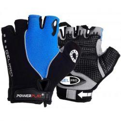 Велоперчатки PowerPlay 5019 Black/Blue L (5019C_L_Blue)