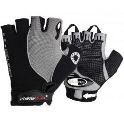 Велоперчатки PowerPlay 5019 Black/Grey M (5019_M_Grey)