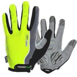 Велоперчатки PowerPlay 6551 Green/Grey M (6551_M_Green)