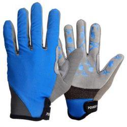 Велоперчатки PowerPlay 6566 Blue L (6566_L_Blue/Grey)