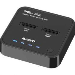 Док-станция Maiwo K3016P, Black, для 2*NVMe M.2 SSD Key M/B+M через USB 3.1 Gen2 Type-C безвинт.крепл. плас