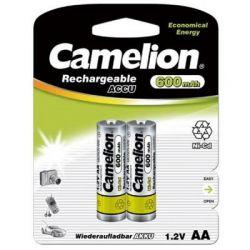 Аккумулятор Camelion AA 600mAh Ni-Cd *2 R6-2BL (NC-AA600BP2)
