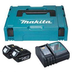 Аккумулятор к электроинструменту Makita набор LXT (BL1830x2, DC18RC, Makpac1) (197952-5)