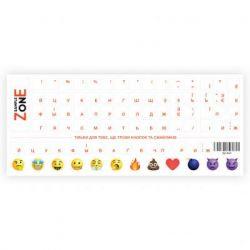 Наклейка на клавиатуру SampleZone прозрачная, оранжевый (SZ-N-R)