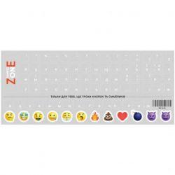 Наклейка на клавиатуру SampleZone прозрачная, белый (SZ-N-W)