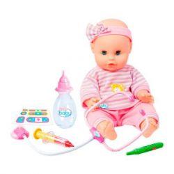 Пупс Play Baby с интерактивным набором врача 32 см (32004)
