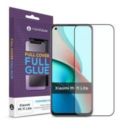 Стекло защитное MakeFuture Full Cover Full Glue Xiaomi Mi 11 Lite (MGF-XM11L) - Картинка 1