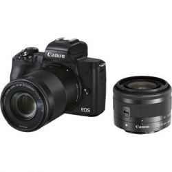 Цифровой фотоаппарат Canon EOS M50 Mk2 + 15-45 IS STM + 55-200 IS STM Black (4728C041)