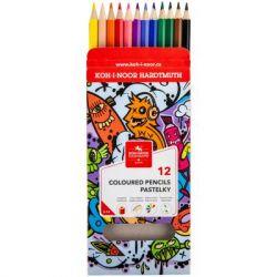 Карандаши цветные Koh-i-Noor Teenage 12 цветов (3552) - Картинка 2