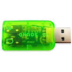 Звуковая карта USB 2.0, 5.1, Dynamode 3D Sound, Green, 90 дБ, Xear 3D, Blister (USB-SOUNDCARD2.0)