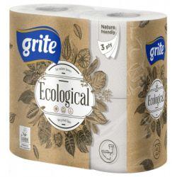 Туалетная бумага Grite Ecological Plius 3 слоя 4 рулона (4770023350227)