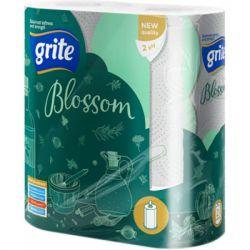 Бумажные полотенца Grite Blossom 2 слоя 2 рулона (4770023348637)