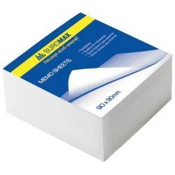 Бумага для заметок BUROMAX White 80х80х50мм, glued (BM.2204)