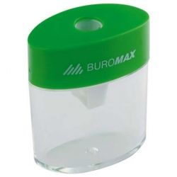 Точилка BUROMAX with a container, plastic (mixed colors) (BM.4752)