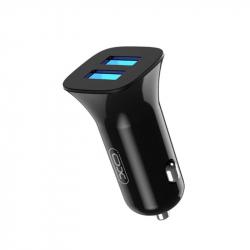 Автомобильное зарядное устройство XO TZ10 (2USB, 2.4A) Black (00000014110) + кабель microUSB