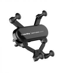 Автодержатель для телефона ColorWay Gravity Sensor Holder, Black (CW-CHG11-BK)