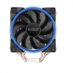 Кулер процессорный PCCooler GI-H58U Corona Blue, Intel: 2066/2011/1150/1151/1155/1156/1366/775, AMD: AM2/AM2+/AM3/AM3+/AM4/FM1/FM2/FM2+, 152х134х100 мм, 4-pin - Картинка 2