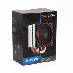 Кулер процессорный PCCooler GI-H58U Corona Red, Intel: 2066/2011/1150/1151/1155/1156/1366/775, AMD: AM2/AM2+/AM3/AM3+/AM4/FM1/FM2/FM2+, 152х134х100 мм, 4-pin - Картинка 6