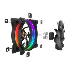 Вентилятор PCCooler Corona RGB; 120х120х25 мм, 4-pin - Картинка 4