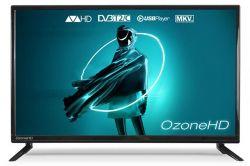 "Телевизор 24"" OzoneHD 24HN82T2, LED HD 1366x768 100Hz, DVB-T2, HDMI, USB, Vesa (100x100)"