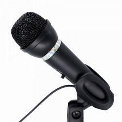 Мікрофон Gembird MIC-D-04 настільний, з підставкою, 3.5 Jack, чорний колір