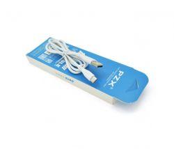 Кабель PZX V-142-S/19018 USB-USB-C, 2.1A, 1м White