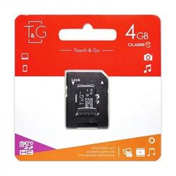 MicroSDHC   4GB UHS-I Class 10 T&G + SD-adapter (TG-4GBSDCL10-01)