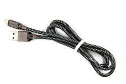 Кабель Dengos USB-Lightning 4A 1м Black (NTK-L-KPR-USB3-BLACK) - Картинка 1