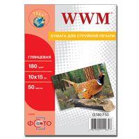 Фотобумага WWM, глянцевая, 180 г/м2, A6 (10х15), 50л (G180.F50)