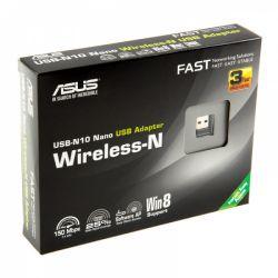 WiFi-адаптер ASUS USB-N10nano 802.11n, 2.4 ГГц, N150, USB 2.0 nano