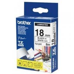 Лента Brother (TZE241) 18mm*8m ламинированная, Black-on-White
