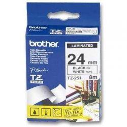 Лента Brother (TZE251) 24mm*8m ламинированная, Black-on-White