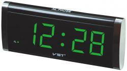 Часы Vst 730-2 Green LED