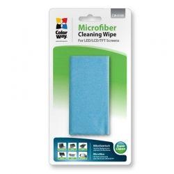 Салфетка чистящая ColorWay, для очков, микрофибра 15 х 18 см, в защитном чехле с карабином (CW-6108)