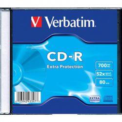 CD-R Verbatim (43347) 700MB 52x Slim, 1шт Extra