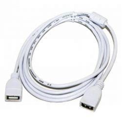 Кабель - удлинитель USB 2.0 - 1.8м AF/AF Atcom феррит фильтр белый - Картинка 1