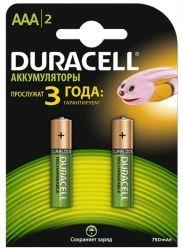 Аккумулятор Duracell Ni-MH AAA/HR03 750 mAh BL 2шт