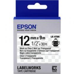 Лента Epson LK4TBN Clear Black/Clear 12mm/9m (C53S654012)