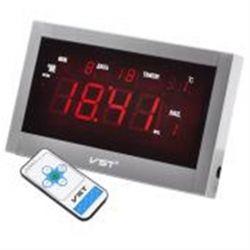 Часы настенные VST 771T-1 Red LED+БП+ДУ