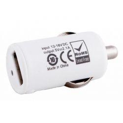 Автомобильное зарядное устройство PowerPlant (1xUSB 2.1A) White (DV00DV5037)