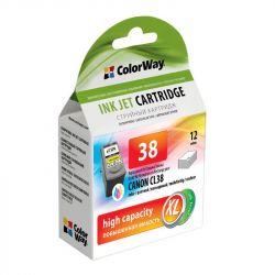 Картридж CW (CW-CCL38-I) Canon Pixma iP1800/3500/MP140/190/210/220/MX300/310 Color (аналог CL-38)